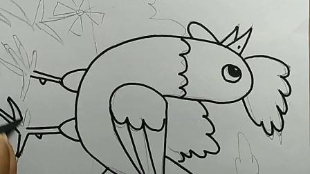 儿童画大公鸡教程