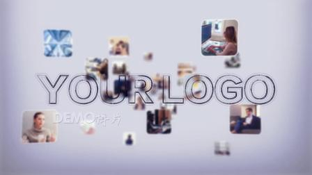 1411 震撼大气图片飞入照片汇聚企业LOGO演绎片头AE模板毕业季 科技片头 视频制作