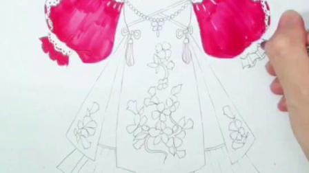 服装设计入门—洛丽塔裙刻画