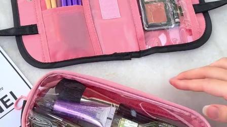 多功能大容量笔袋 可手提简约ins少女心中小学生文具袋初中生创意可爱小清新卡通网红铅笔盒日系包化妆包收纳