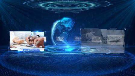 097 科技地球蓝色图片展示