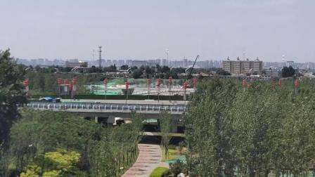 陕西省西安市地貌、西安渭河平原。黄家桉拍摄