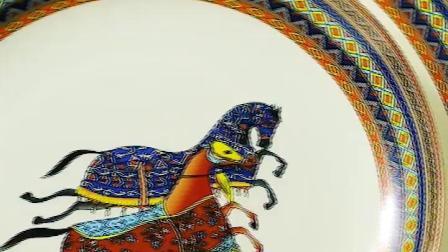 爱马仕骨瓷餐具套装 欧式碗碟套装家用组合景德镇陶瓷器结婚送礼
