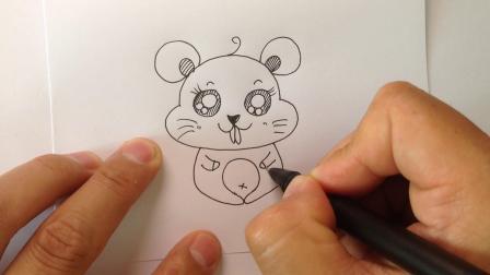 卡通简笔画.萌萌哒小老鼠画法