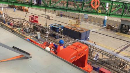 办公室的故事之救助艇码头试验