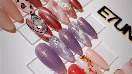 E7unii新色柠檬绯迹系列网红美甲店专用指甲油胶水光肌肤裸粉透色
