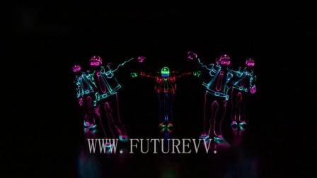 无线实时同步控制团体舞蹈led发光演出服嘻哈舞蹈服LED高端表演服