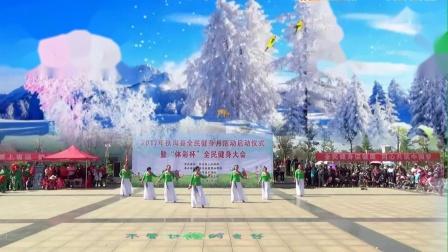 白谭镇不悔青春广场舞《雪山千年恋》变队形参赛版