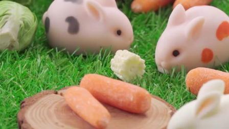 展艺兔子蛋糕模6连小白兔慕斯蛋糕冰淇淋布丁果冻法式甜品硅胶模