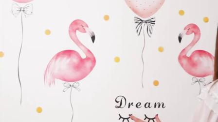 宿舍改造墙贴ins风网红少女心布置房间装饰画出租屋床头可爱贴纸