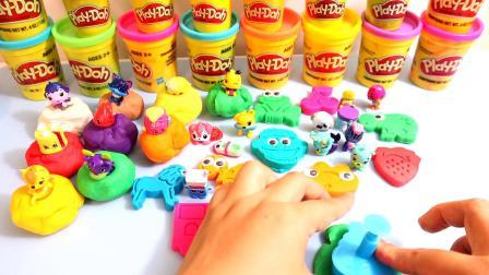 如何从儿童玩具商店里制作有趣的动物水果卡通人物