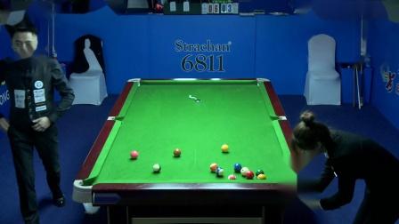 王晓倩VS坎哈桑·詹萨尔(下)2019中式台球国际大师赛(黑龙江桦南站)