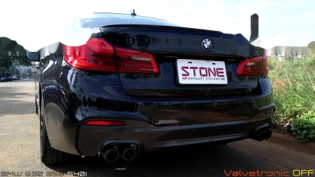 BMW G30 540i B58 x STONE EXHAUST Catless Downpipe Sound