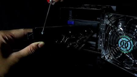 Black Vortex黑旋风MB174U3S-4SB四层式3.5寸双界面前置120mm LED风扇硬盘外接盒_高清