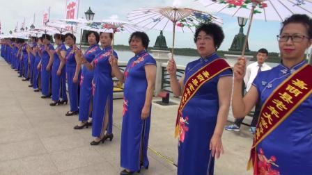 2019.6.30黑龙江省嘉荫县恐龙文化节老年大学时装走秀