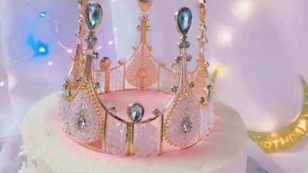 皇冠蛋糕装饰摆件生日派对烘焙装饰品珍珠公主儿童成人女王皇冠