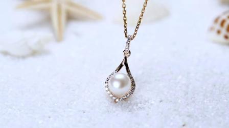 brir淡水珍珠项链S925纯银简约百搭吊坠韩版送爱人送妈妈生日礼物