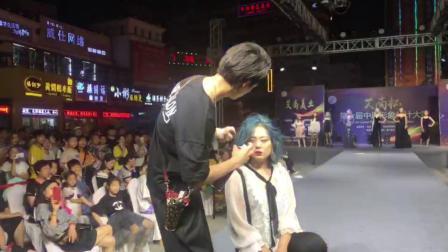 漯河艾尚化妆美容职业培训学校——美发师现场吹发造型