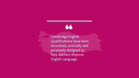 Cambridge English Qualifications Schools Survey Stats Video