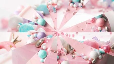 糖珠生日蛋糕装饰可食用大珍珠糖彩色烘焙甜甜圈银珠珠子白色烘培