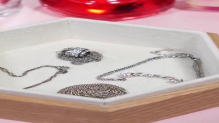 实木质简约可爱绒布珠宝首饰盒欧式韩国公主小奢华装耳环戒指收纳