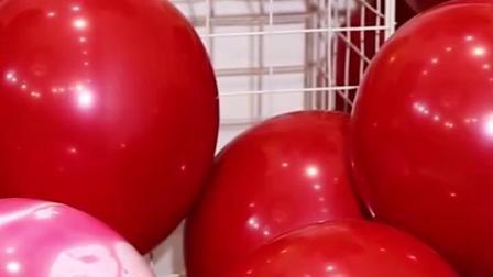 婚房布置套餐网红气球马卡龙宝石红生日派对装饰婚礼浪漫卧室创意