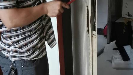 吉中吉智能锁安装老式防盗门