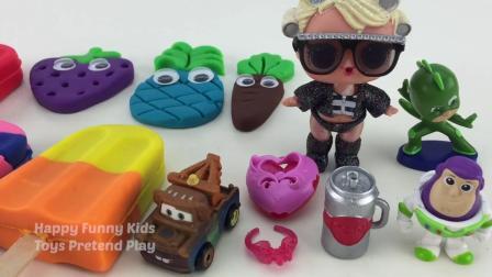 用造型粘土曲奇制作冰激凌冰棒为孩子们制作惊喜玩具