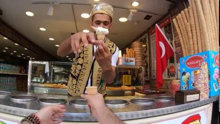 第一视角感受购买土耳其冰激凌