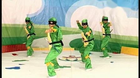 师讯2019最火幼儿园体操律动《忍者龟》