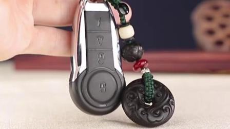 汽车钥匙扣挂绳保出入平安男士高档车载钥匙链挂件创意个性雕刻