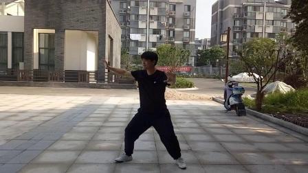 2019年7月15日,张国伟师傅的42式太极拳整套演练