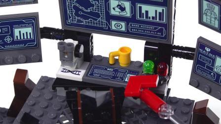 LEGO乐高超级英雄76122泥面人侵入蝙蝠洞