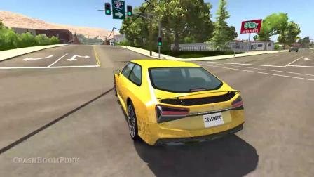 BeamNG模拟汽车卡车高速碰撞