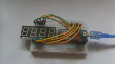 玩转Arduino图形化编程基础版46-四位共阳极数码管显示(直接驱动)