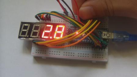玩转Arduino图形化编程基础版55-数字电压表