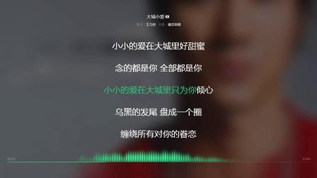 大城小爱 王力宏 2005年度最火歌曲 动态歌词