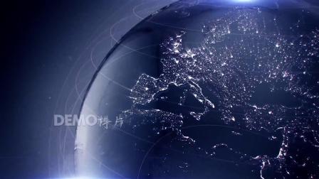 c601 震撼大气粒子星球地球特写科技感金融商务3D全息投影LED年会晚会互联网峰会舞台视频素材