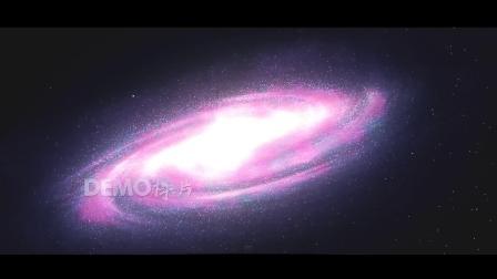 c605 唯美粉色宇宙太空璀璨星河星系银河灿烂星云星尘LED大屏幕舞台背景视频素材