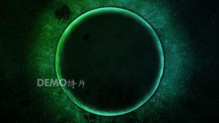 c607 震撼大气星球地球行星宇宙星空绚丽色彩变化科技感金融商务3D全息投影LED年会晚会峰会舞台视频