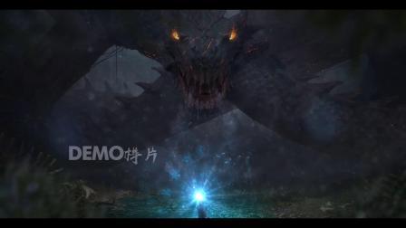 c608 震撼大气长龙巨龙石龙歌舞表演游戏舞台LED视频素材