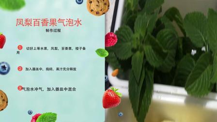 心口谓 食物和饮品研习室---凤梨百香果气泡水