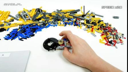 [速拼】LEGO乐高 机械42097 精巧型履带起重机
