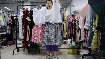 2019年最新精品女装批发服装批发时尚服饰时尚女士夏装连衣裙套装特价走份20件一份,视频款可挑款零售混批.mp4