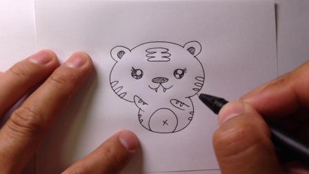 小动物简笔画.一只可爱的小