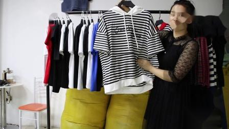2019年最新精品女装批发服装批发时尚服饰时尚女士新款夏装棉短T特价走份30件一份,视频款可挑款零售混批.mp4