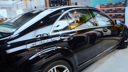 老车变新车!奔驰S65氟素叠加镀晶4层-廊坊汽车镀晶·