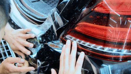 奔驰S350装贴UPPF隐形车衣-廊坊汽车美容