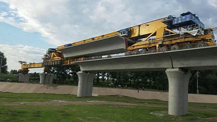 赤喀高铁第三集 平庄特大桥铺桥板 70分09秒 2018年8月10日