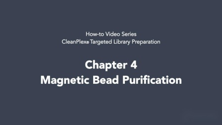 CleanPlex Targeted Library Preparation - Chapter 4 - Bead Purification